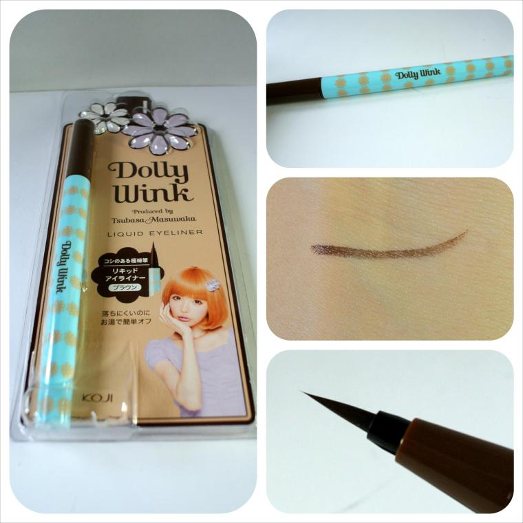 dollywink liquid eyeliner brown complete